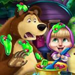 Jeu Masha et Bear à la cuisine