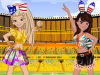 Jeu Zoe & Lily Cheering For The World Cup