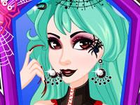 Jeu Tutoriel maquillage Halloween - Femme Araignée