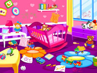 Jeu Ranger la chambre d'un bébé