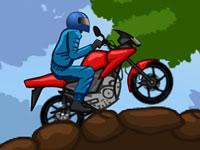 Jeu Faire de la moto en forêt