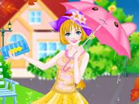 Jeu Elegante sous la pluie