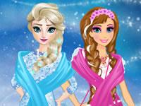 Jouer à Elsa et Anna essaient un nouveau style