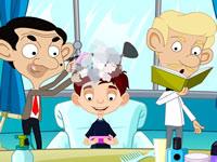 Jeu Mr Bean chez le coiffeur