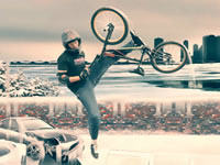 Jouer à Faire du BMX en hiver
