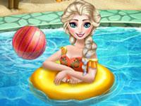 Jeu La Reine des Neiges à la piscine