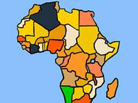 Jeu Situer les pays d'Afrique sur la carte