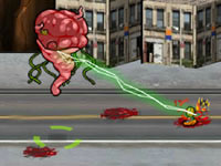 Jeu Revenge of Brainzilla - Bomb the Humans
