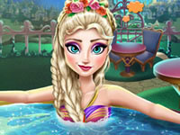 Jeu Elsa profite d'un jacuzzi