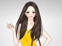 Jouer à Cru00e9er une tenue jaune stylu00e9e
