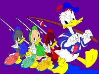 Jouer à Coloriage Donald et sa famille