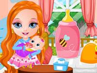 Jeu Barbie s'occupe d'un bébé