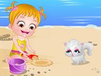 Jeu Bébé Hazel joue sur la plage