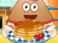Jeu gratuit Pou cuisine des pancakes