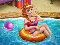 Jeu Anna à la piscine