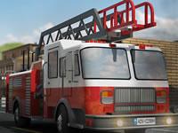 Jeu Garer un camion de pompiers
