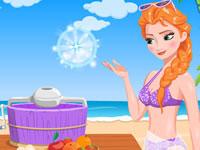 Jeu Anna fait des glaces