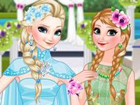 Jeu Elsa se marie et Anna l'accompagne
