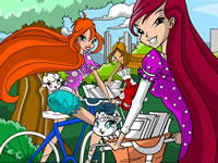 Jeu Winx Club à vélo