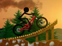 Jeu Stickman Dirtbike