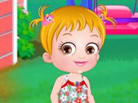 Jeu Bébé Hazel joue au jardin