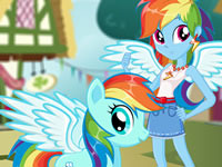 Jeu Rainbow Dash et son sosie