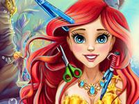 Jeu Ariel va chez le coiffeur