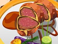 Jeu gratuit Préparer une viande en croûte
