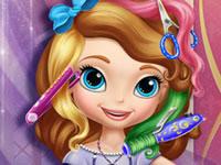 Jeu Princesse Sofia va chez le coiffeur
