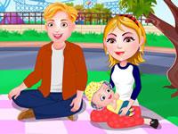 Jeu Bébé Hazel pique-nique en famille