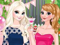 Jeu Anna et Elsa - Fête d'anniversaire