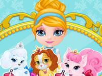 Jeu Bébé Barbie toilette les Palace Pets