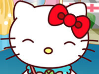 Jeu gratuit Hello Kitty Accident de vélo
