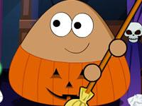 Jeu Pou - Ménage d'Halloween
