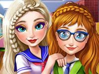 Jeu Anna et Elsa - Nouvelle année scolaire