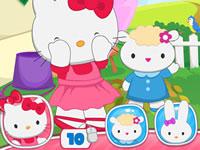Jouer à Hello Kitty joue u00e0 cache-cache
