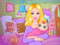Jeu Barbie décore une chambre de bébé