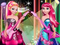 Jeu Elsa et Anna Rock N Royals