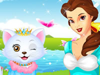 Jeu La princesse Belle et son chat
