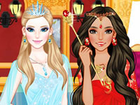 Jouer à Princesse de glace et princesse du feu