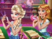 Jeu Anna et Elsa à l'école de Maléfique