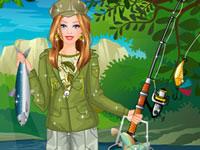 Jeu Barbie à la pêche