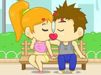 Jeu Cupidon - Bisous au parc