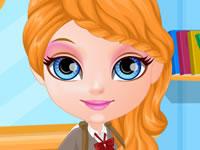 Jeu Bébé Barbie Tenue pour l'école
