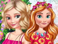 Jeu Elsa et Anna fêtent Pâques
