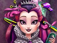 Jeu Raven Queen chez le coiffeur