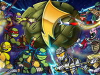 Jeu TMNT Vs Power Rangers