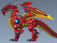 Jeu Dragon de feu robot