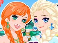 Jeu Anna et Elsa version manga