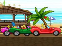 Jeu Les Simpsons - Course sur la plage